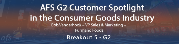 AFS G2 Customer Spotlight in the Consumer Goods Industry