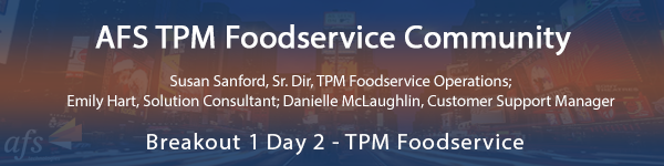 AFS TPM Foodservice Community