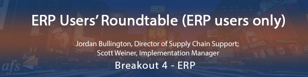 ERP Users' Roundtable (ERP users only)