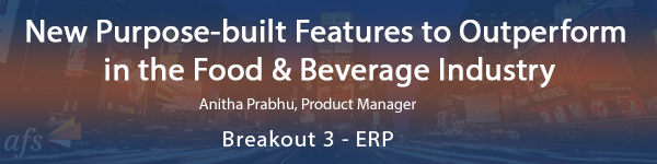 New Purpose‐built Features to Outperform in the Food & Beverag