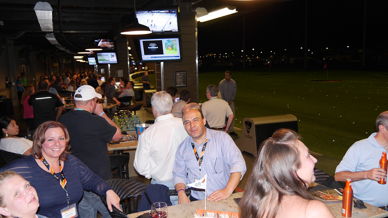 Topgolf with AFS Customers and Staff