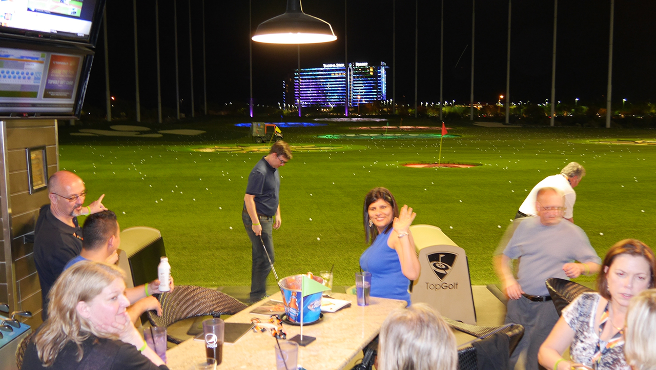 Topgolf with AFS Customers